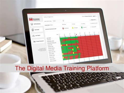digital media courses the digital media platform tracking dashboard