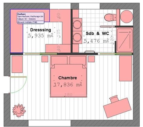 plan chambre dressing plan suite parentale avec salle de bain et dressing 4