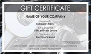 automotive gift certificate template free gift ftempo With automotive gift certificate template