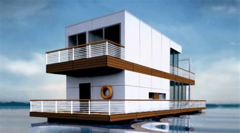 floating home  poland totally deluxe modern  mobile water home
