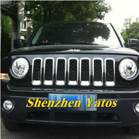chrome jeep patriot high quality chrome grille insert for 2007 2014 jeep