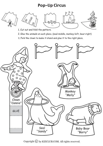 clowns and circus animals lesson plans worksheets