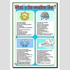 Weather  Esl Learning  Pinterest  Weather, Printables And Studentcentered Resources