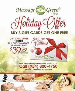 Massage Green Spa is offering an awesome holiday deal! By ...