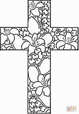 Coloring Pages Religious Adult Cross Flowers Quotes Easter Printable Crosses Adults Sheets Printables Colouring Sheet Teens Christmas sketch template