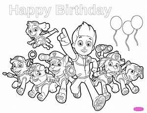 free printable birthday coloring pages - paw patrol birthday