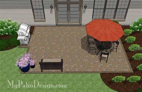 Large Rectangular Paver Patio Design   Download Plan