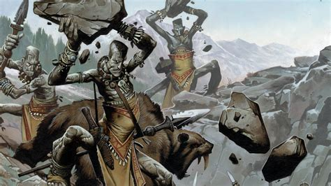 Fortress Of The Stone Giants Wallpaper From Pathfinder