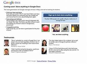 Google39s april fool39s hoaxes we39re ready for you for Store documents on google docs