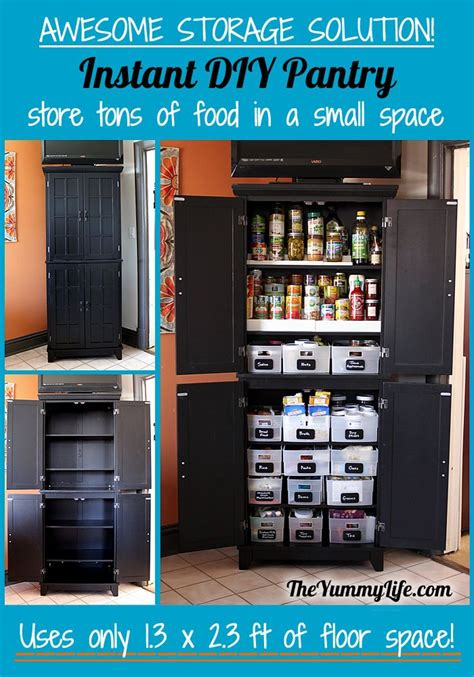kitchen storage cabinet instant diy pantry cabinet get organized with this easy Diy