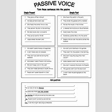 Passive Voice  Past And Present  Teaching Ideas