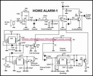 Build A Simple Home Alarm Circuit Using 555 Ic U0026 39 S