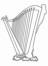 Harp sketch template