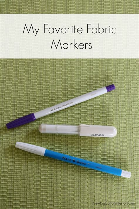 my favorite fabric markers newton custom interiors