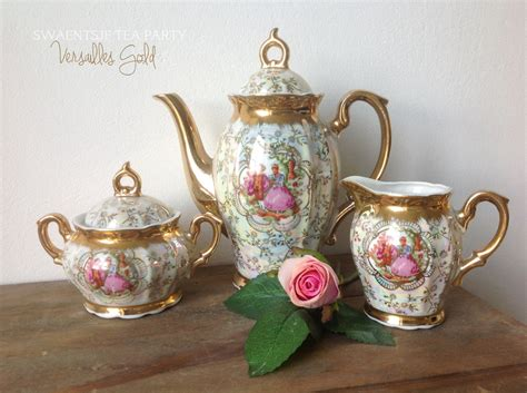 Antique Tea Set Marked Versailles Teapot Sugar Bowl And