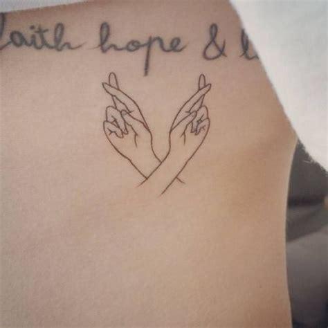 ideas  cross finger tattoos  pinterest tiny finger tattoos crossed fingers