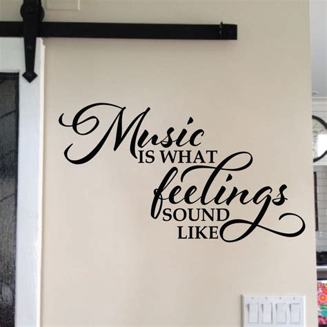 feelings sound  vinyl wall decal foyer