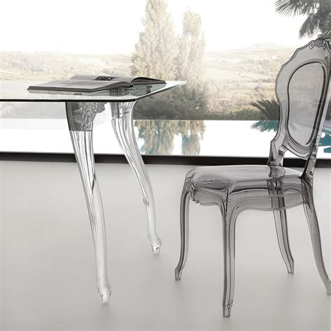 Tavoli cristallo moderni tavolo vetro acciaio Epierre