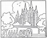 Coloring Temple Lds Pages Synagogue Mormon Getdrawings sketch template