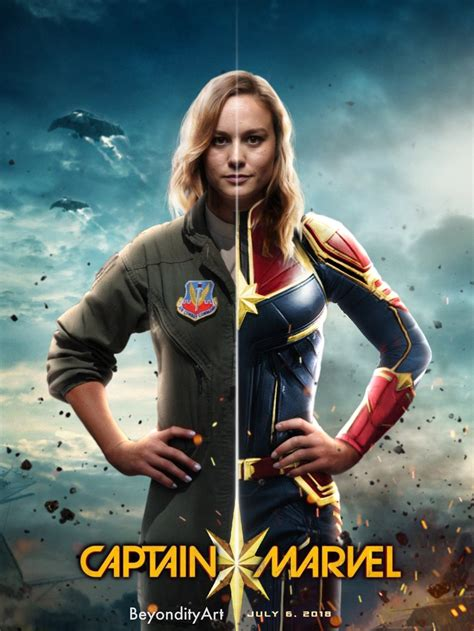 Brie Larson As Captain Marvel 2019 Poster By Beyondityart