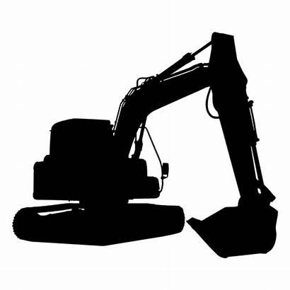 Silhouette Svg Transparent Silueta Pista Excavator Backhoe