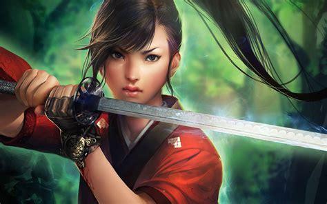 Women Sword Fantasy Art Wallpapers Hd Desktop And Mobile Backgrounds