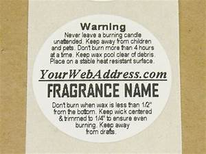 125quot round custom split candle warning labels at candle With custom candle warning labels