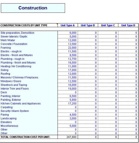 commercial construction schedule template task list