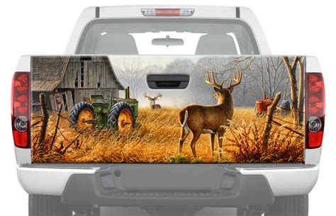 deer  farm tailgate graphic decal sticker truck wrap