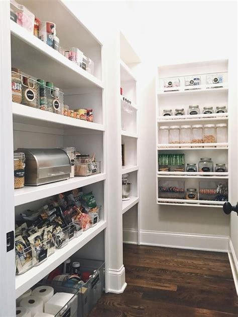 Amazing Pantry Designs by Amazing Pantry Features Large Black Labeled Bins Filled