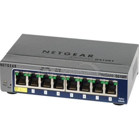 switch 8 ports gigabit netgear prosafe gs108t 8 port gigabit smart switch ocuk