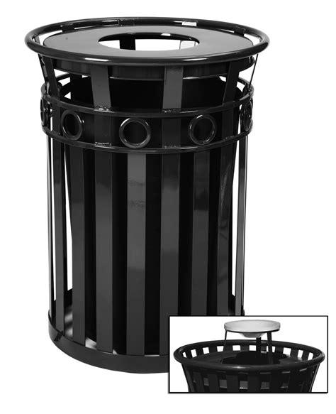 designer trash can 40 gallon oakley decorative outdoor steel trash cans
