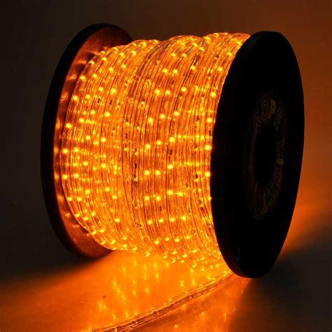 150 orange saffron yellow led rope light home outdoor