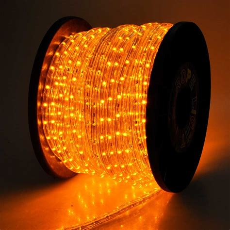 150' Orange  Saffron Yellow Led Rope Light  Home Outdoor