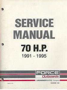 Mercury Marine Force Outboards 70 Hp 1991