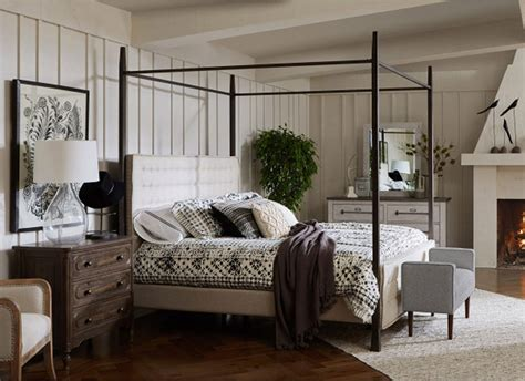 modern authentic metal post canopy bedroom set accentrics