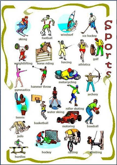 kinds  sports english lesson learn
