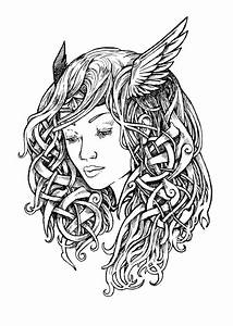 Valkyrie tattoo design - ink drawing | my drawings ...