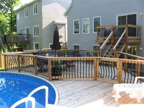 Deck Around Rectangular Above Ground Pool