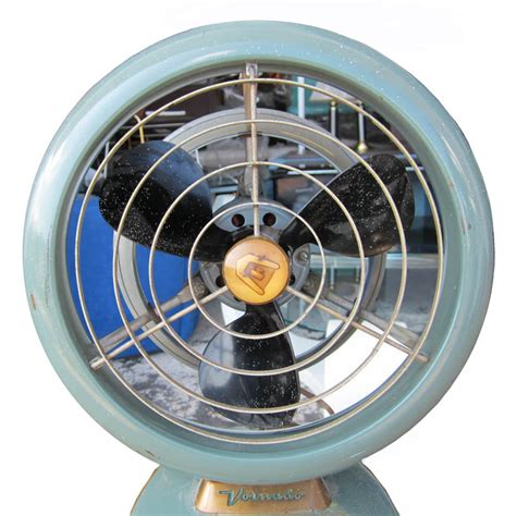 vintage mid century vornado industrial table fan olive