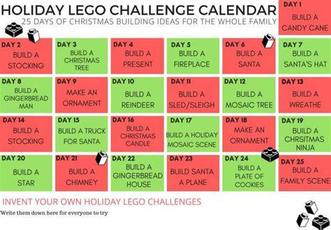 lego christmas building ideas calendar countdown  kids