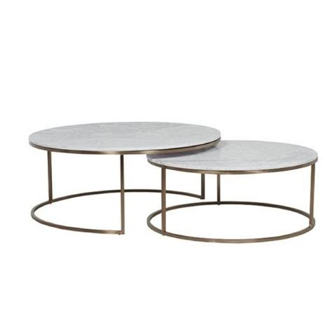 brass and marble nesting tables nesting coffee tables white marble brass tables 7950