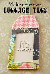 delicious reads diy make your own luggage tags link to With homemade tags for sewing