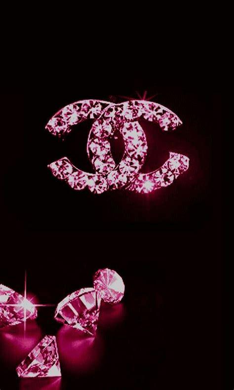 pink  black chanel  diamonds coco chanel