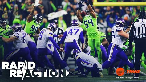rapid reaction seahawks  vikings