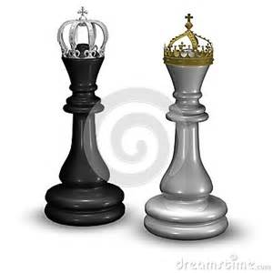 Crown King and Queen Chess Piece