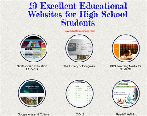10 Excellent Educational Websites For High School Students  Educational Technology And Mobile
