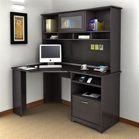 we furniture elite soreno glass corner computer desk black corner computer desk chic bush cabot l shaped computer