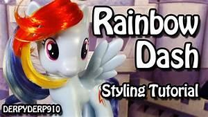 My Little Pony: Rainbow Dash Hair Styling Tutorial - YouTube