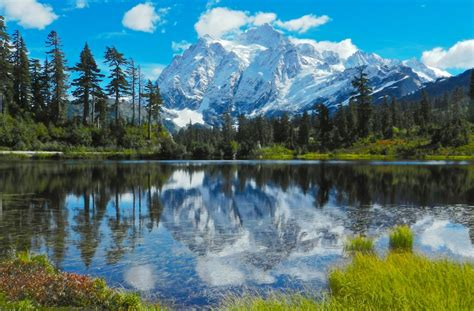 Picture Lake And Mt. Shuksan Jigsaw Puzzle In Puzzle Of